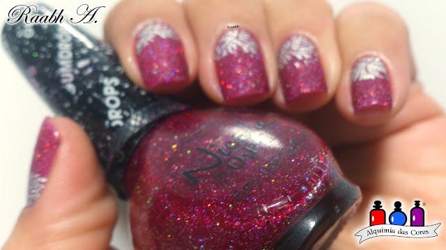 Nicole by OPI Gumdrops Collection, Esmalte Texturizado, Magenta, Liquid Sand, NOPI My Cherry Amour, Glitter Holo, Carimbada, XY-G17, Raabh A., Unhas carimbadas,