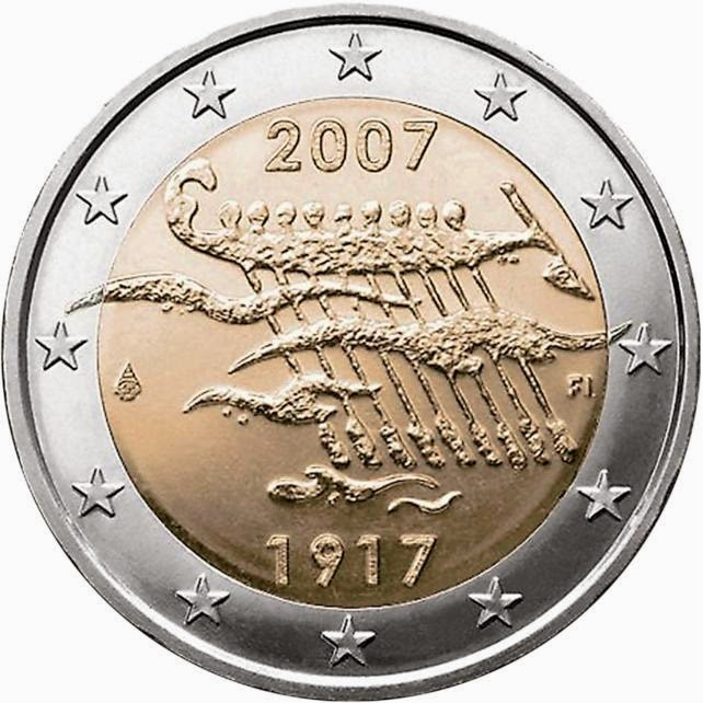 2 euro coins Finland 2007, Finland's Independence