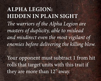 chaos space marines 8th edition codex legion traits stratagems black legion alpha legion word bearers