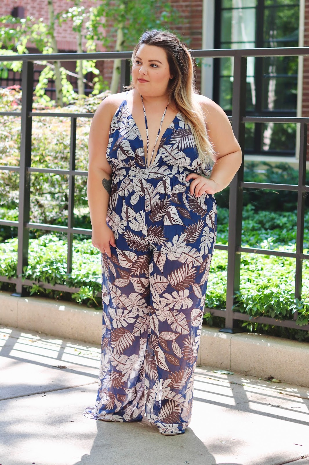 Bell Bottom Floral Jumpsuit Natalie In The City A Chicago Plus
