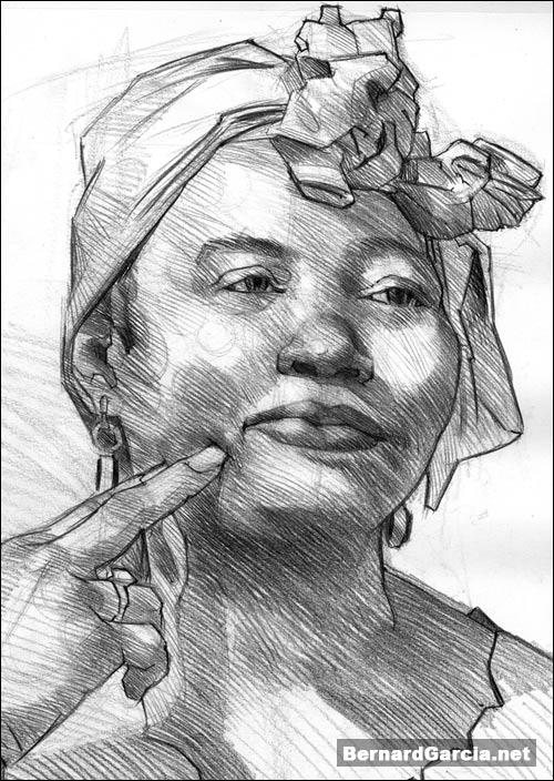 Drawing and sketching by artist bernard garcia