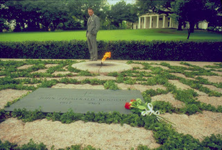 JFK grave Kevin Costner