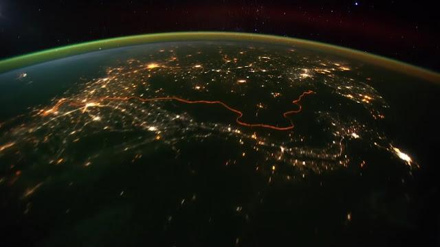 Esto es China, desde el espacio, no se ve ninguna muralla...