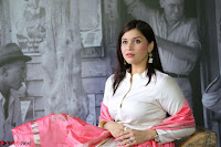 Mannara Chopra in Silky White Salwar Suit with Pink Chunni Latest Exclusive Pics March 2017 ~  005.JPG