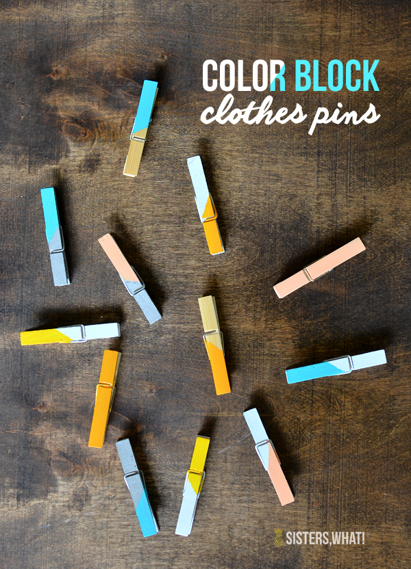 DIY color block clothespins