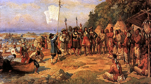 French colonists treated Native Americans with great respect