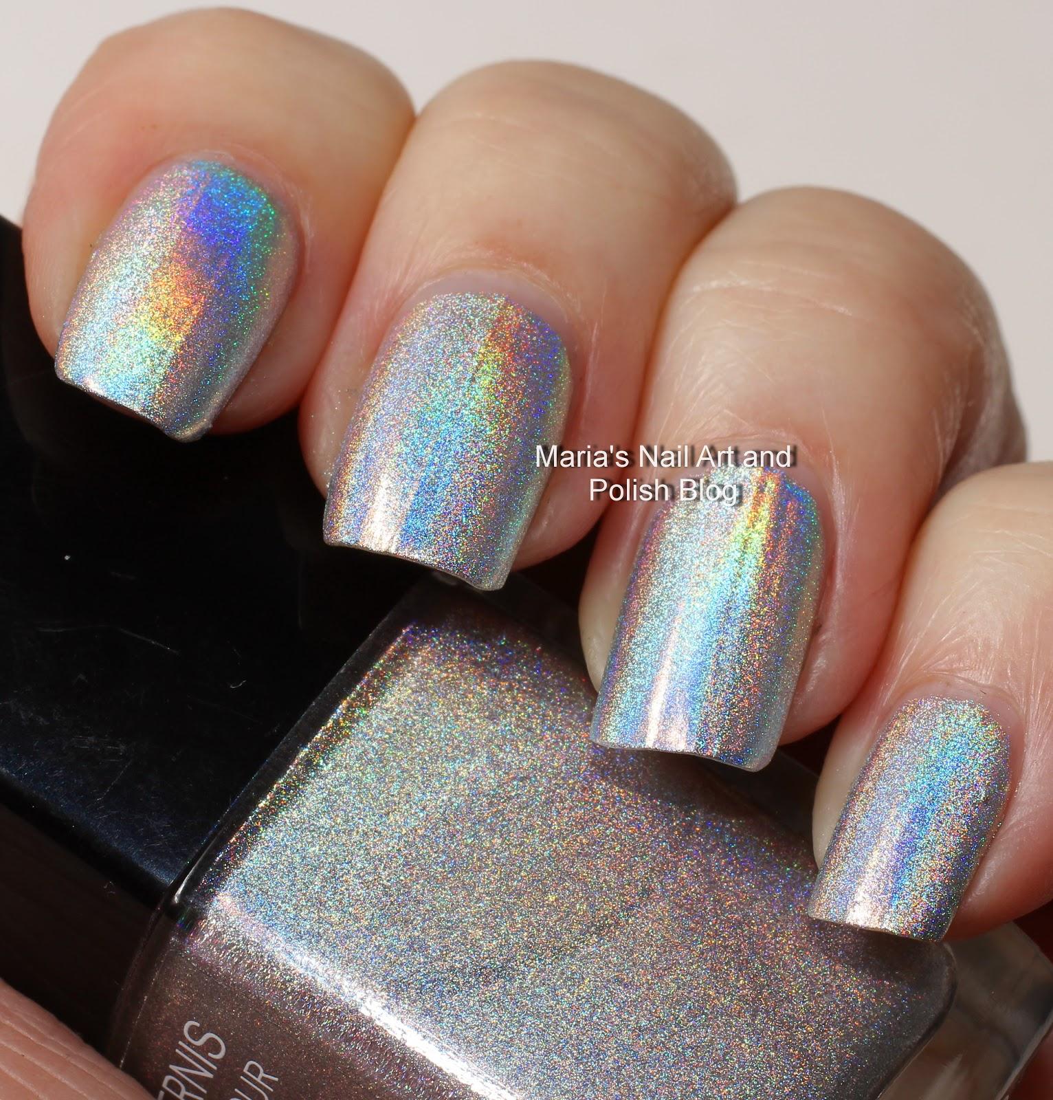 Chanel Holographic Nail Polish: Marias Nail Art And Polish Blog: Silver Holographic Polish