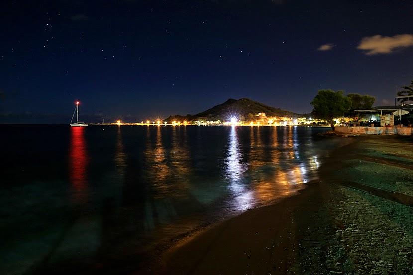 Night Lights Star Sprinkled Beach