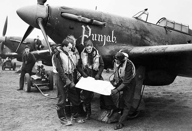 Hawker Hurricanes at Duxford, 2 January 1942 worldwartwo.filminspector.com