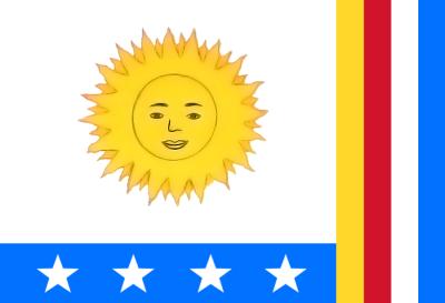 Primera bandera de Venezuela.