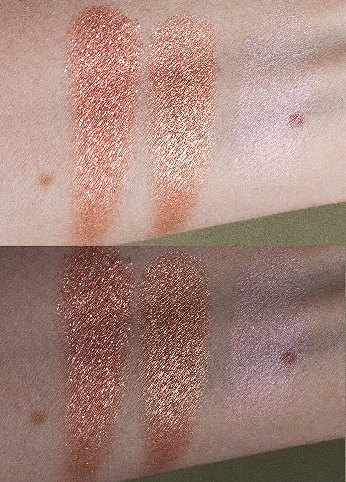 Colourpop Sequin, Lala and Monster review and swatches