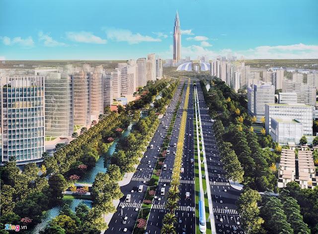 xa lộ Hoàng Sa lên Nội Bài
