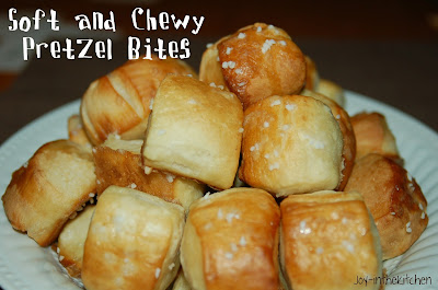 Soft and Chewy Pretzels and Pretzel Bites