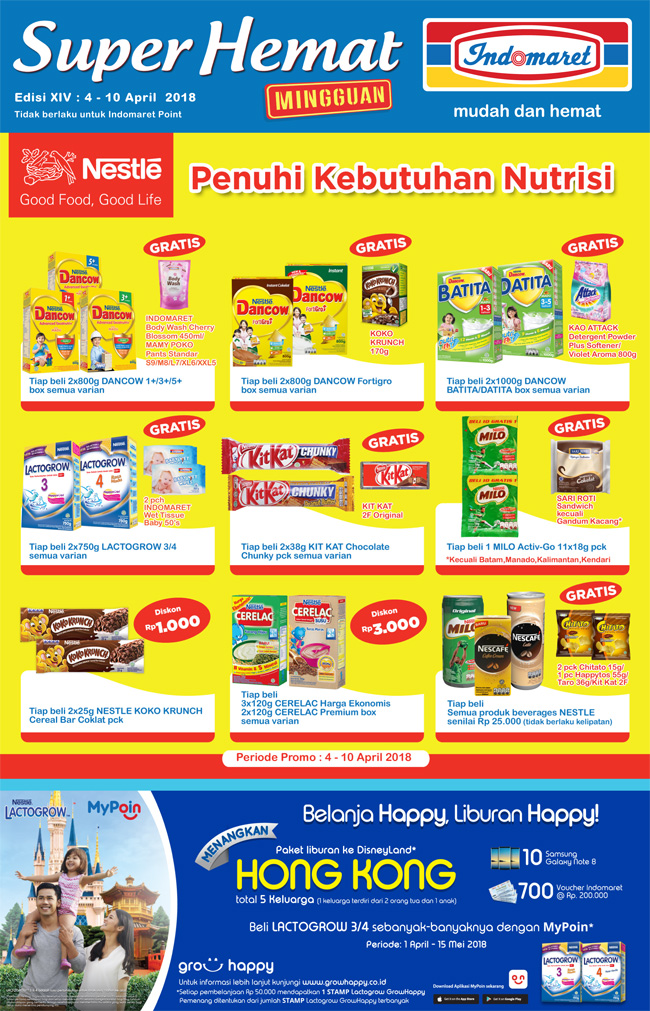 Katalog Harga Promo INDOMARET Super Hemat 04 - 10 April 2018