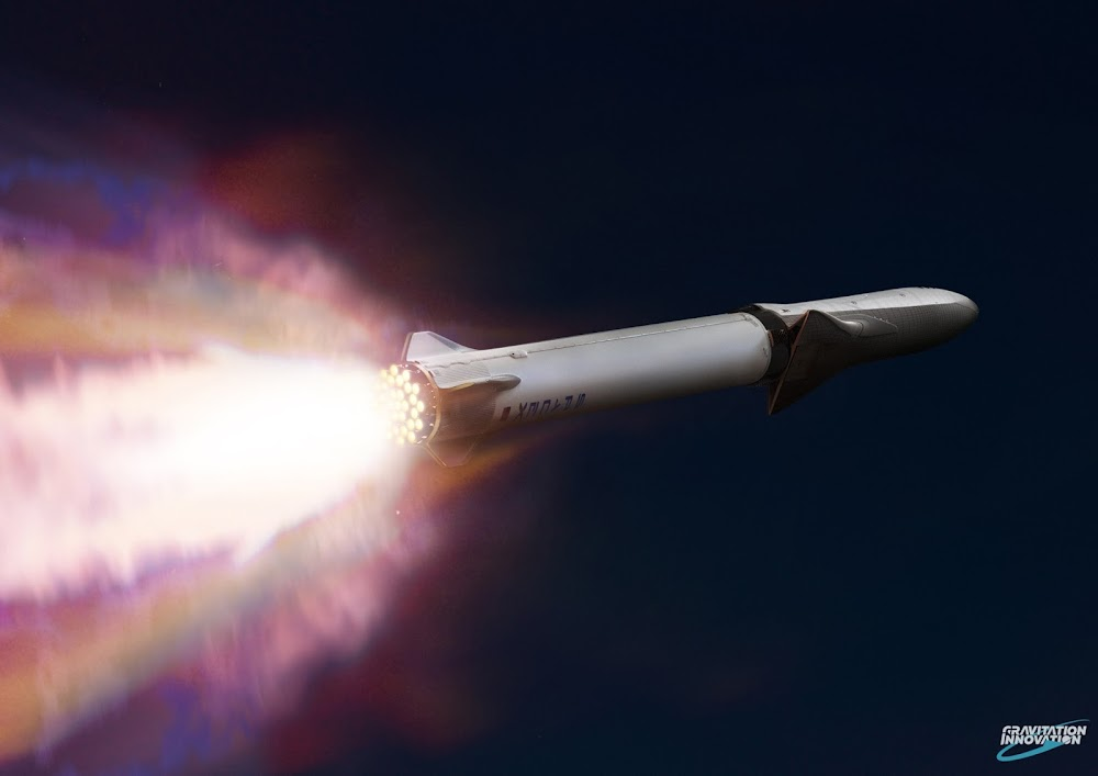 SpaceX Big Falcon Rocket (BFR) launch by Gravitation Innovation