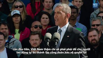 Obama: Không đáp ứng điều khoản TPP, Việt Nam sẽ bị loại