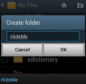 menyembunyikan file di android tanpa root
