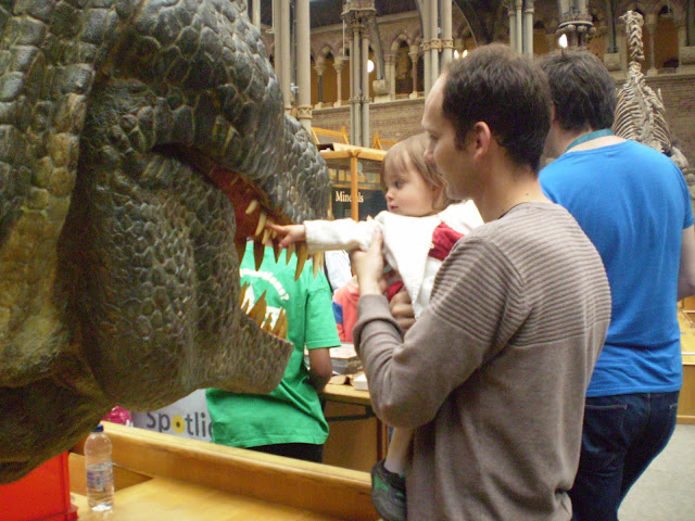 Face to face with a dinosaur