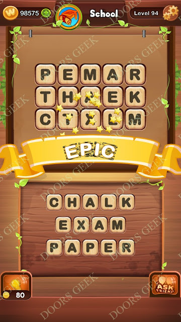 Word Bright Level 94 Answers, Cheats, Solutions, Walkthrough for android, iphone, ipad and ipod