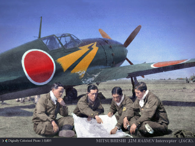 Mitsubishi J2M Raiden color photos of World War II worldwartwo.filminspector.com