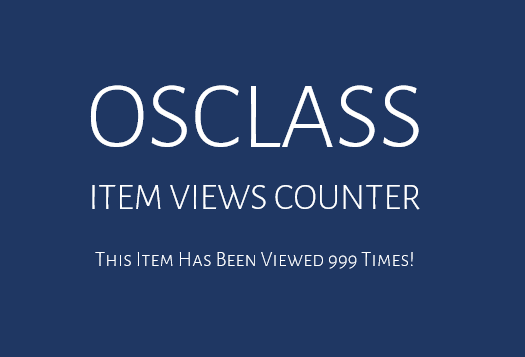 osclass item as listing view counter
