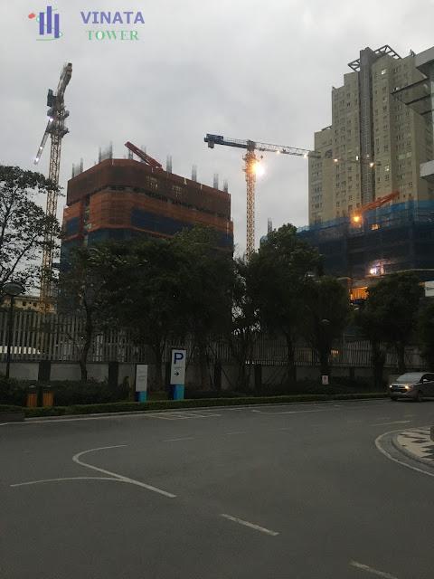 Tiến độ thực tế chung cư Vinata Tower ngày 27/12/2016