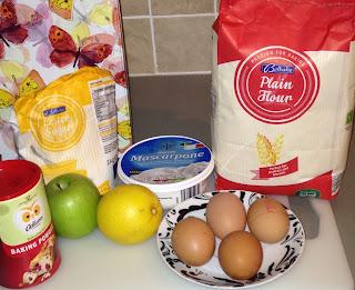 Bizcocho de manzana, ingredientes