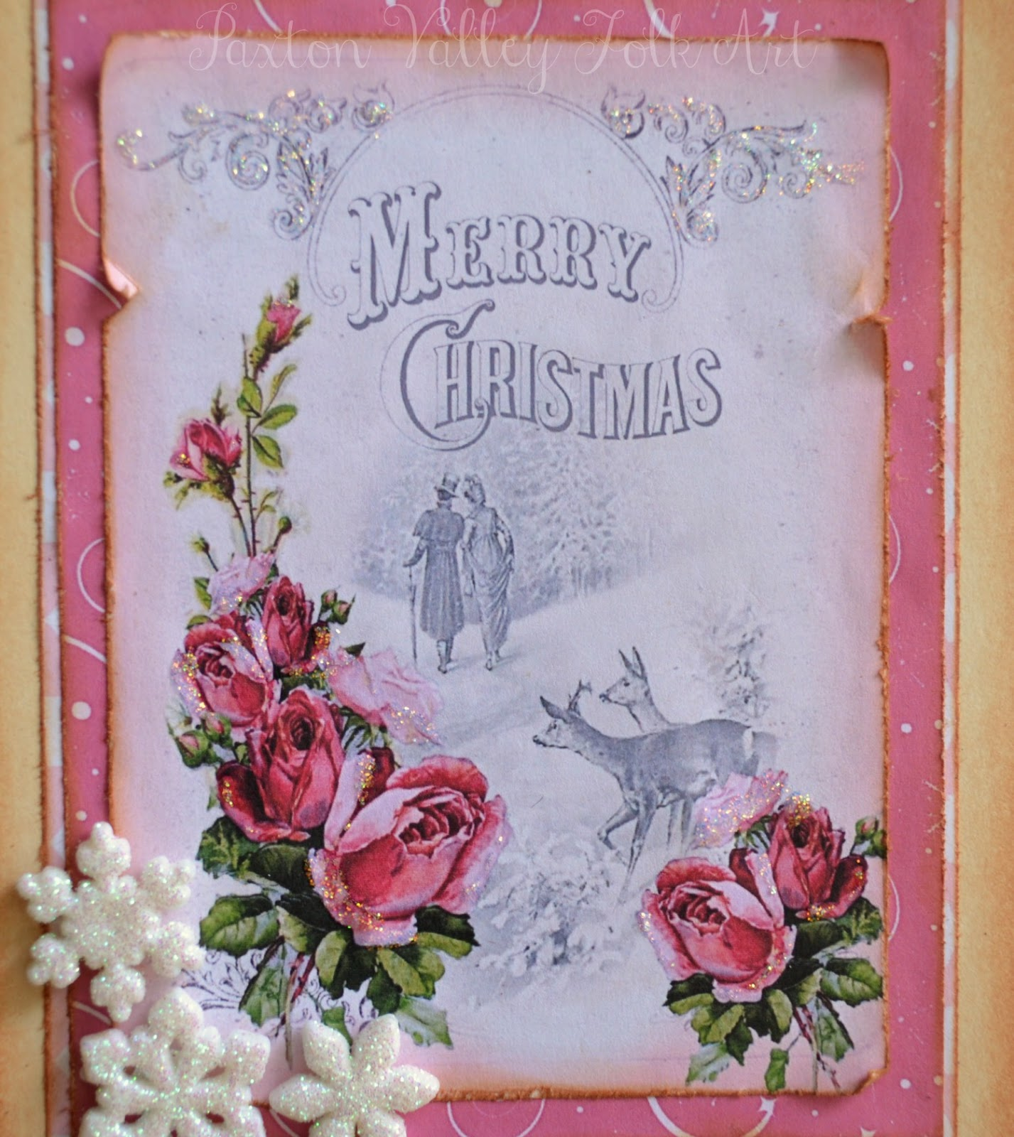 Deb Riddell Designs: A Merry Pink Christmas Card