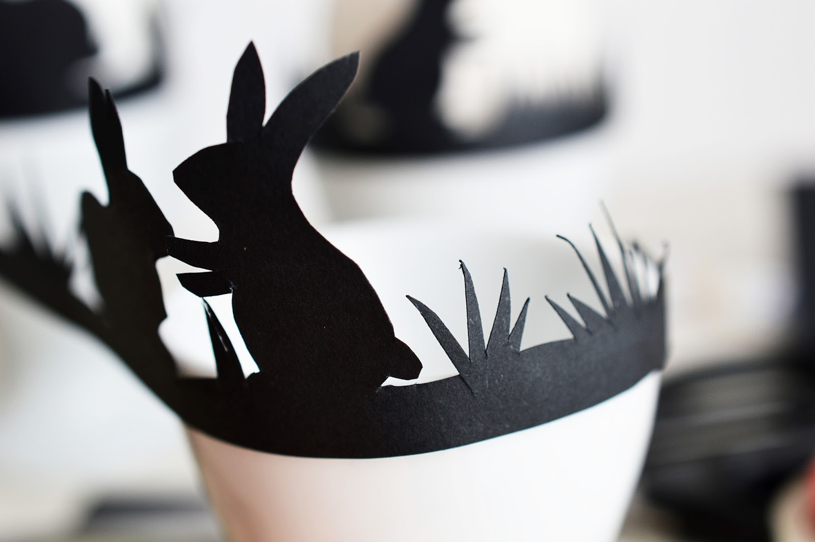 DIY Egg Cup Silhouette Band   Motte's Blog