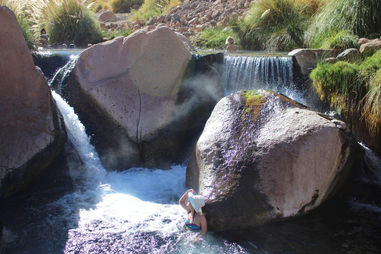 Cachoeiras nos Termas de Puritama.