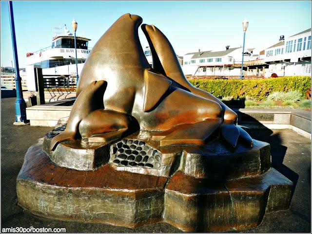 Escultura Leones Marinos en el Pier 39 del Fisherman´s Wharf