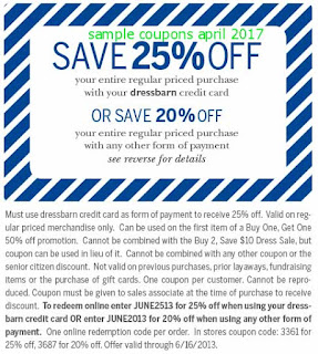 free Dress Barn coupons for april 2017