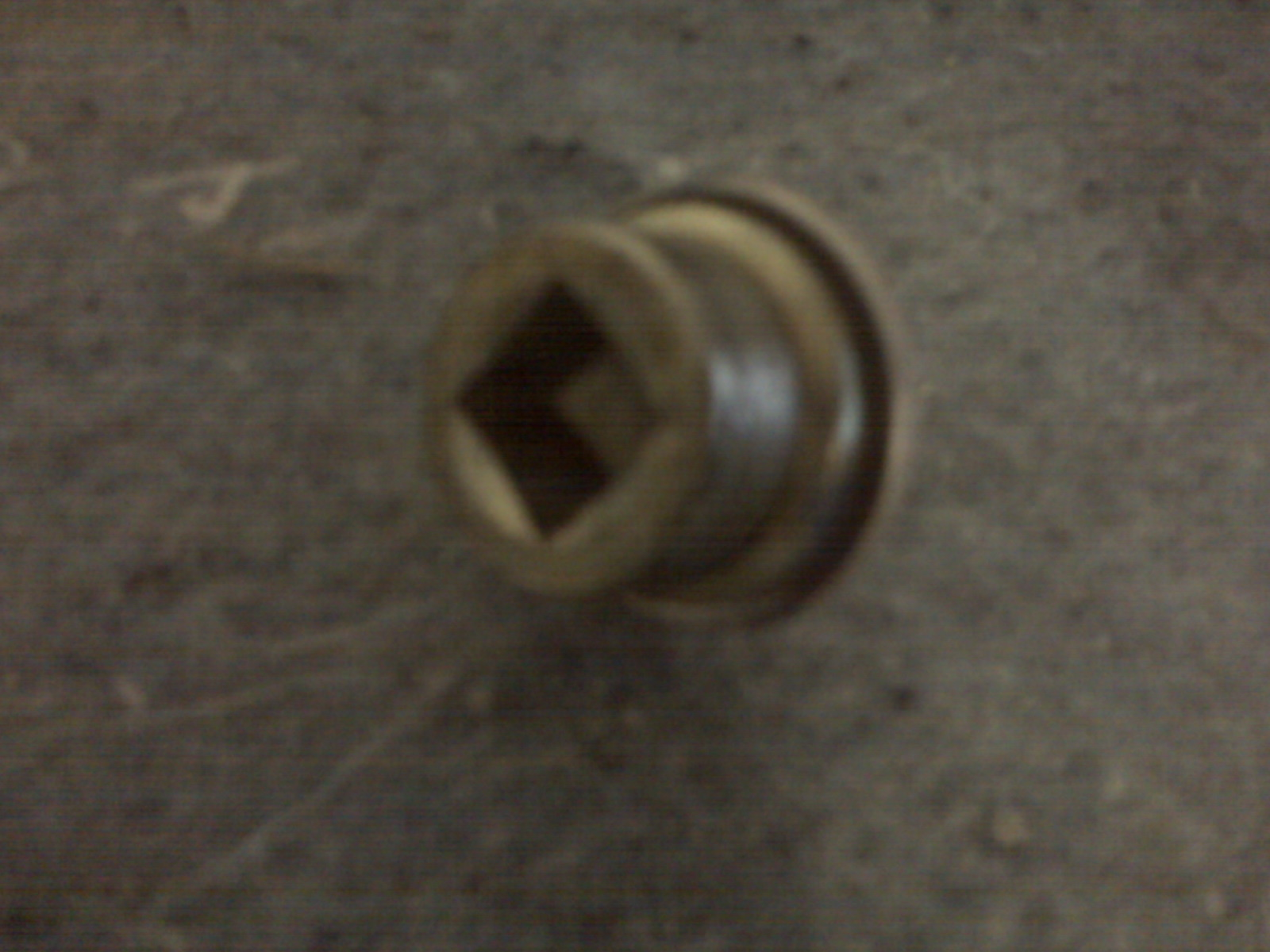 Drain plug can be removed using a socket wrench