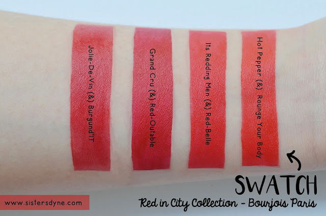 Red in City Collection by Bourjois Paris Swatch