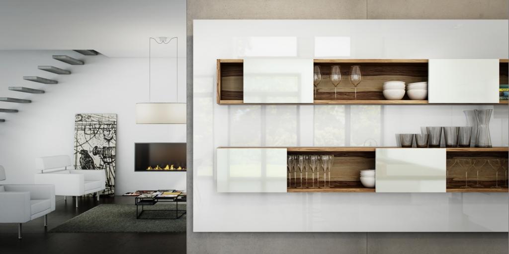 Un toque vital en la cocina blanca cocinas con estilo for Repisas estilo industrial