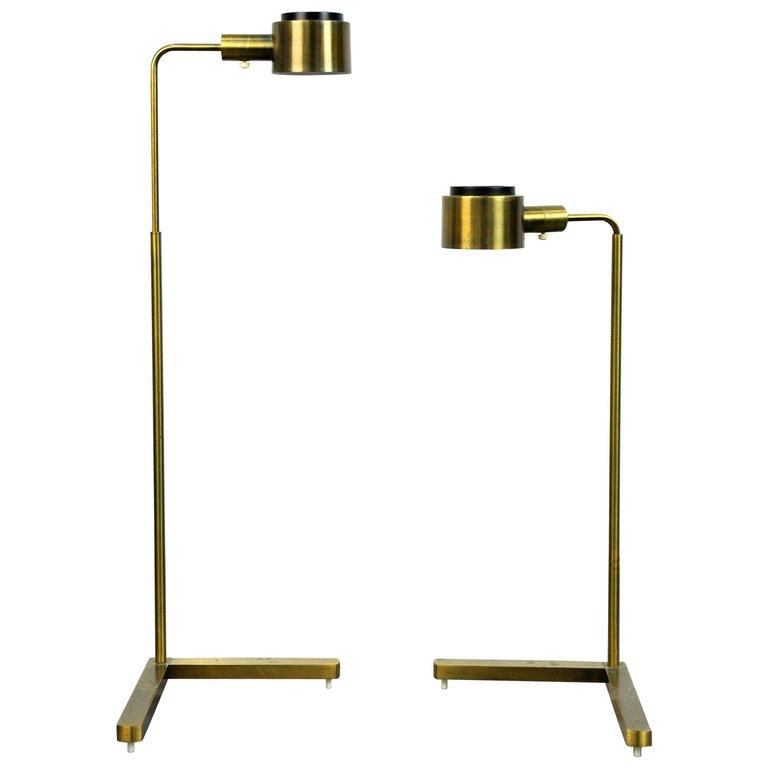 Select modern pair of casella pharmacy c1139g brass for Casella brass floor lamp