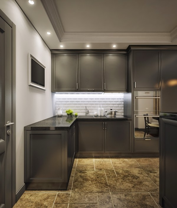 Small apartment interior design in Moscow  60 sqm  Dolf
