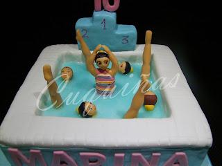 tarta natación sincronizada