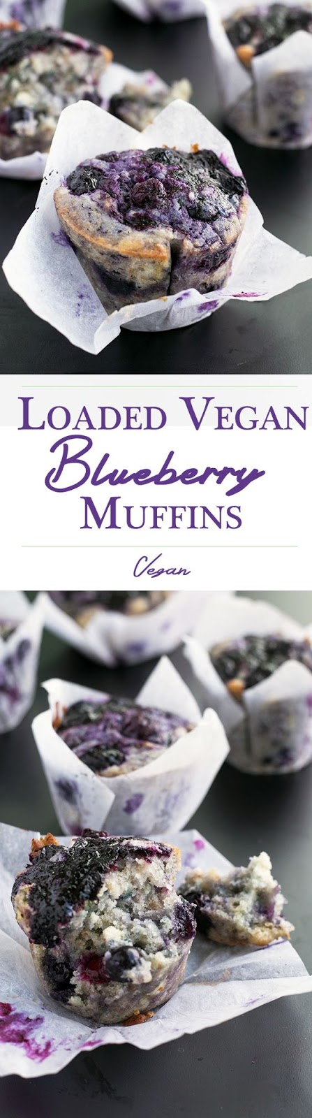 LOADED VEGAN BLUEBERRY MUFFINS