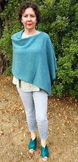 Creates Sew Slow: Janis Sandbar top & MerinoMink poncho