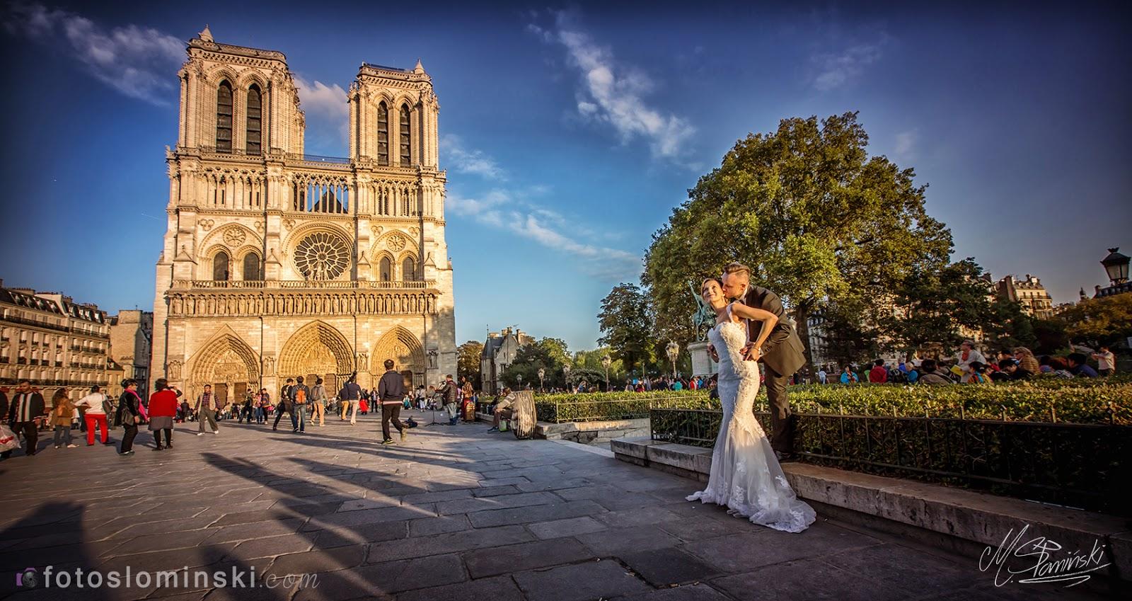 Katedra #NotreDame #Paryż - Sesja #ślubna - Fotoslominski.Com