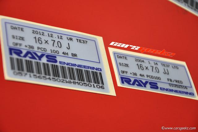 te37 inner barel sticker - 16x7.0 J off 30 pad 100