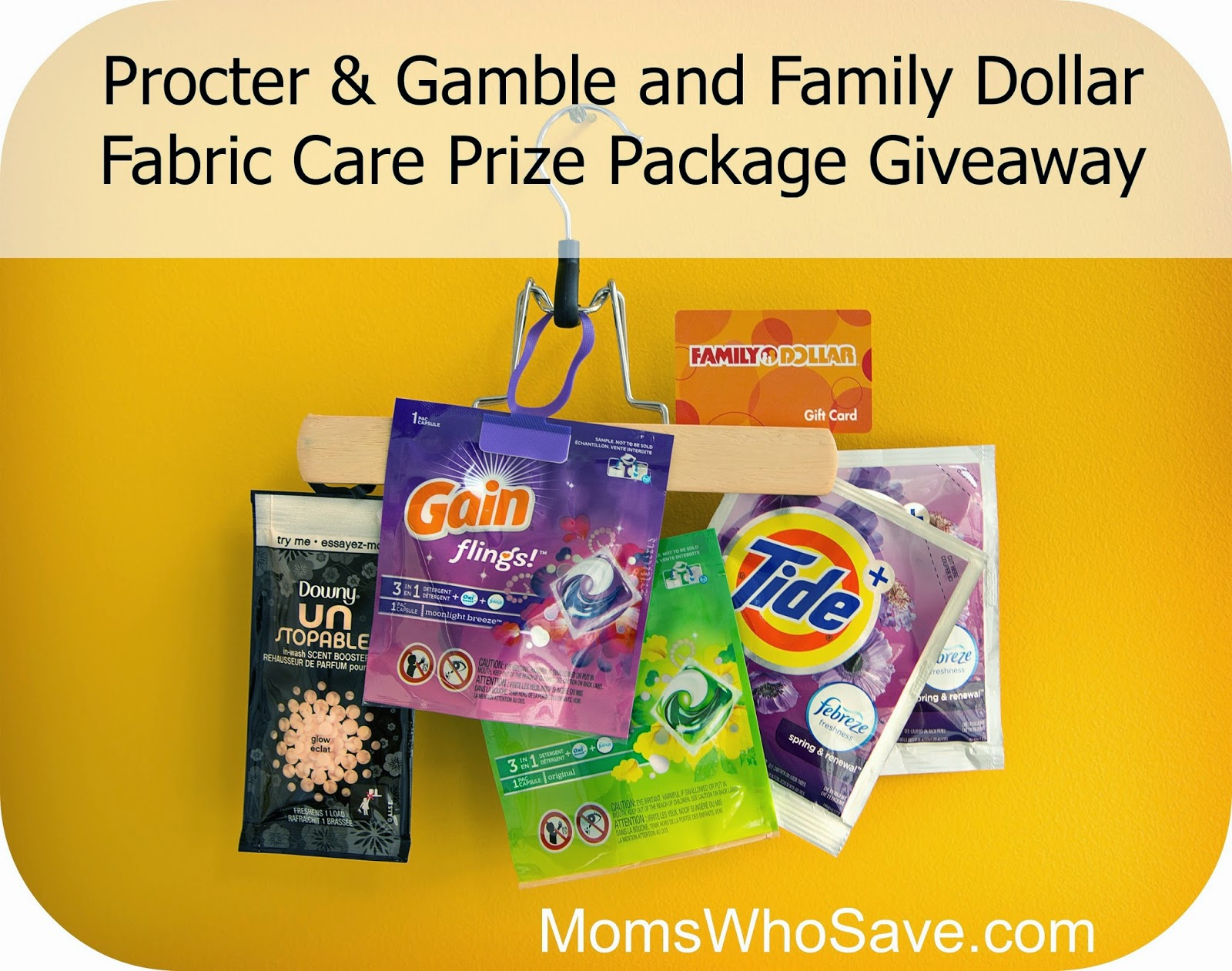 win a Family Dollar gift card and Tide and Gain laundry products