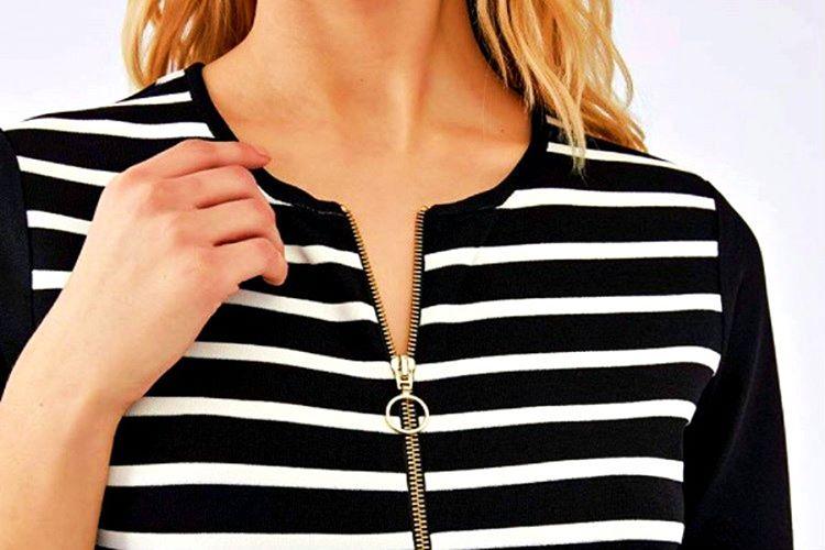 Çoğu zaman görülebilir fermuarlar elbisenin kalitesiz görünmesine neden olur.