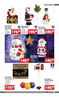 CATALOG METRO Decoratiuni de Craciun 2018 figurine Mos Craciun