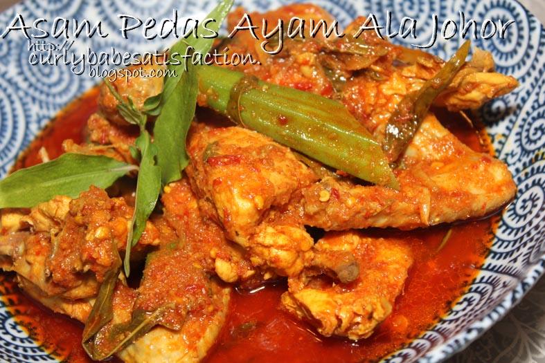 Curlybabe S Satisfaction Asam Pedas Ayam Ala Johor