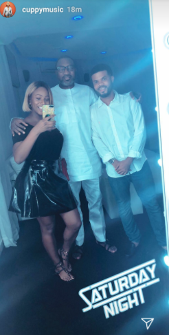 DJ Cuppy Takes Photos of Her BF And Her Daddy