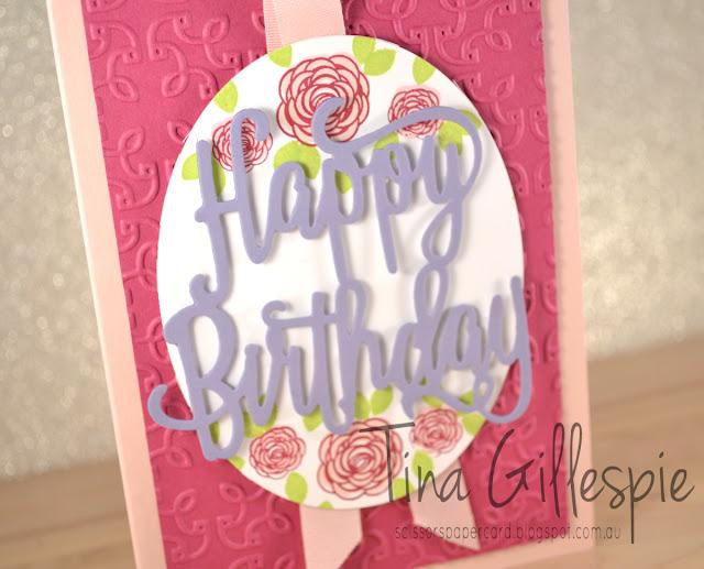scissorspapercard, Stampin' Up!, Happy Birthday Gorgeous, Happy Birthday Thinlit, Garden Trellis TIEF