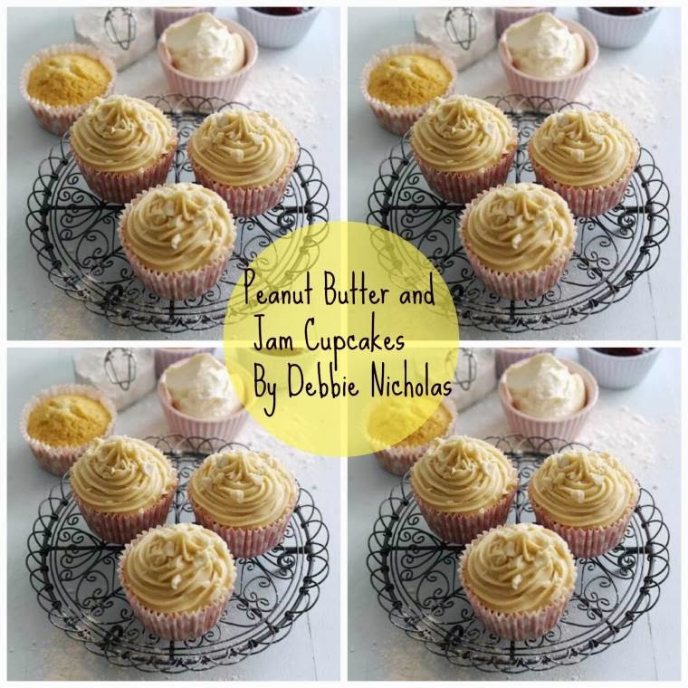 Peanut Butter And Jam Cupcakes By Debbie Nicholas