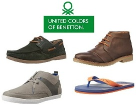 United Colors of Benetton (UCB) – Flat 50% – 80% Off on Shoes, Slippers at Amazon.in